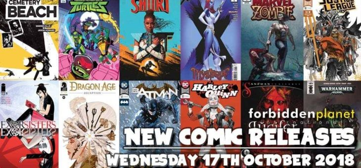 New Comic Book Day Wednesday 17th October 2018