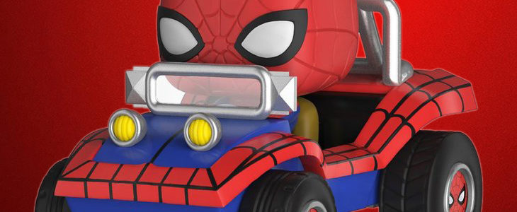 Funko Pop! Rides Spider-Man with Spider Mobile and Spider-Hulk!