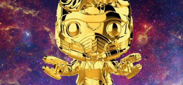 Funko Marvel Stud10s Gold Chrome Star-Lord