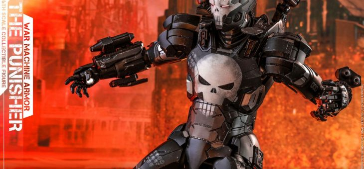 Hot Toys Marvel Future Fight Video Game Masterpiece 1/6 The Punisher War Machine Armour 32cm