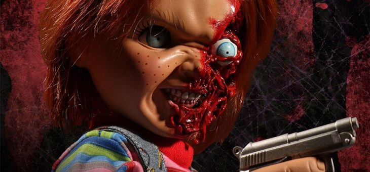 Child's Play 3 Designer Series Talking Pizza Face Chucky Mega Action Figure