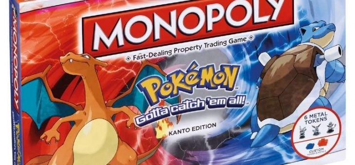 Pokémon Monopoly Board Game Kanto Edition