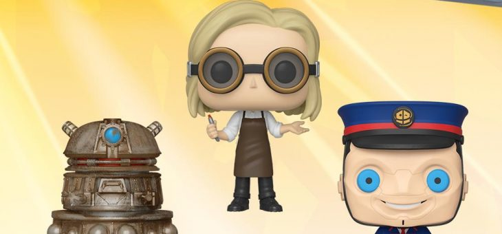 Funko: Pop! Television: Doctor Who – 13th Doctor googles, Reconnaissance Dalek and Kerblam Man