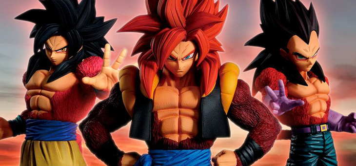 Dragon Ball Ichibansho PVC Statue Super Saiyan 4 Goku, Vegeta and Gogeta