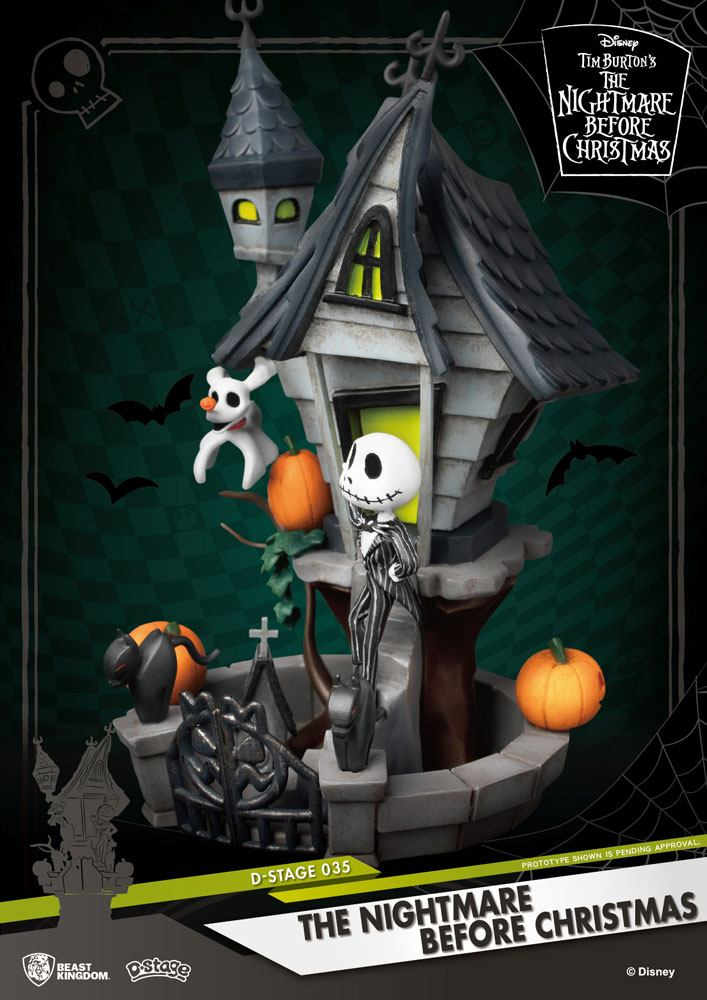 Nightmare before Christmas D-Stage PVC Diorama Jack's Haunted House 15 cm – ForbiddenPlanet ...