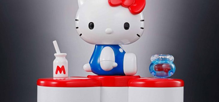 Hello Kitty Chogokin Diecast Action Figure Hello Kitty 45th Anniversary 6 cm