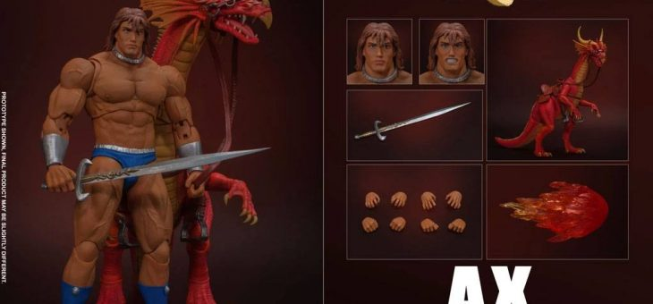 Golden Axe Action Figure 1/12 Ax Battler & Red Dragon 18 cm