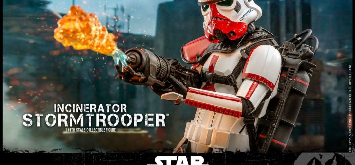 Star Wars The Mandalorian Action Figure 1/6 Incinerator Stormtrooper 30 cm