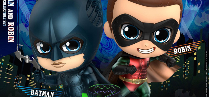 Batman Forever Cosbaby Mini Figure 2-Packs 11 cm