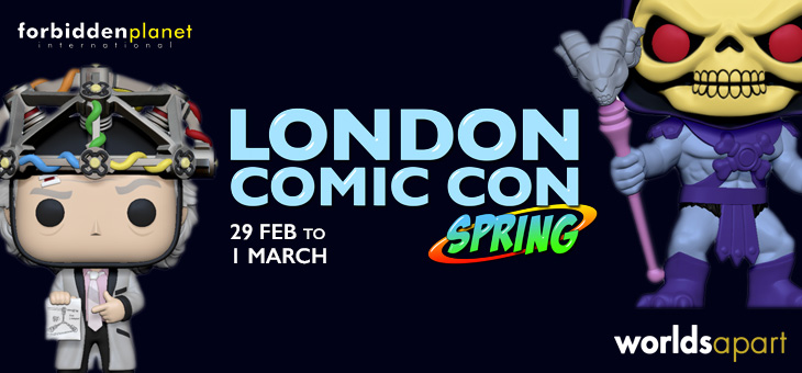Come and meet us @ London Comic Con Spring 2020 this weekend!