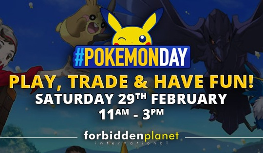 Pokemon Trade and Play day on Saturday 29th February FPI Glasgow