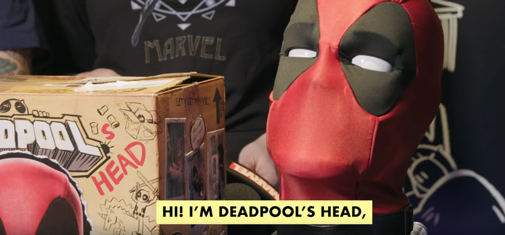 Marvel Deadpool Interactive Head
