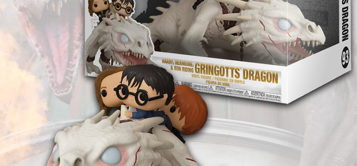 Funko: Pop! Ride: Gringott's Dragon w/Harry, Ron, & Hermione