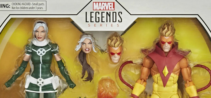 Marvel Legends X-Men Rogue and Pyro Action Figure Set