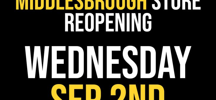 FPI Middlesbrough Reopening Wednesday September 2nd 2020!