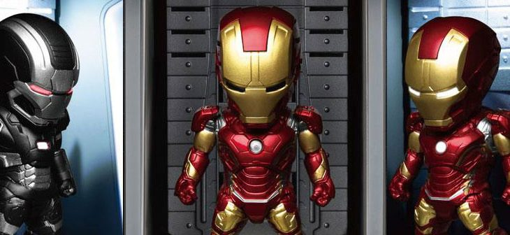 Avengers Age of Ultron Mini Egg Attack Action Figure Hall of Armour Iron Man Mark XLIII & War Machine 8 cm