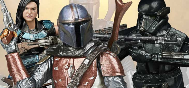 Star Wars: Hasbro The Mandalorian Black Series & Carbonized Action Figures