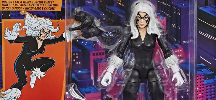 Marvel Legends Spider-Man Retro Black Cat 6 Inch Action Figure