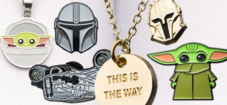 Star Wars: The Mandalorian Enamel Pins, Keychains and Jewellery