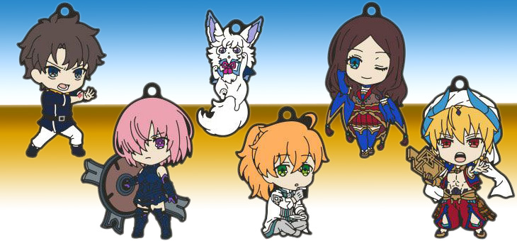 Fate/Grand Order – Absolute Demonic Front: Babylonia Nendoroid Plus Keychain 6-Pack Vol. 1 & 2 – 6 cm
