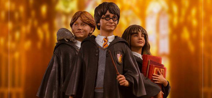 Harry Potter Art Scale Statues 1/10 Harry, Hermione and Ron 16-17 cm