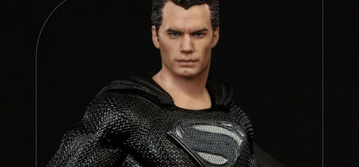 Zack Snyder's Justice League Art Scale Statue 1/10 Superman Black Suit 30 cm