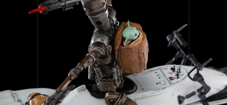Star Wars The Mandalorian Deluxe Art Scale Statue 1/10 IG-11 & The Child 20 cm