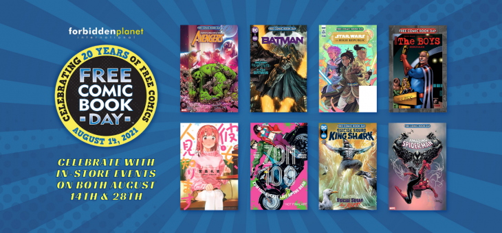 Free Comic Book Days 2021 At Forbidden Planet Int. & Worlds Apart
