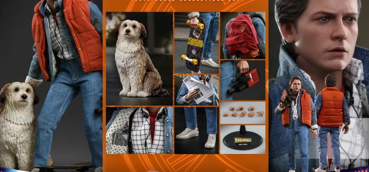 COMING SOON – Marty McFly and Einstein Exclusive Sixth Scale Figure Set by Hot Toys