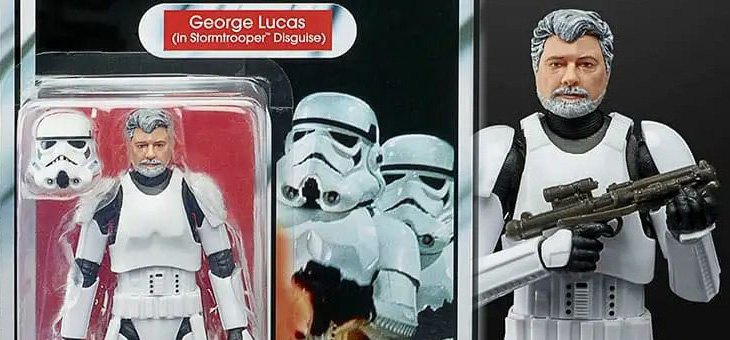 COMING SOON – Star Wars The Black Series George Lucas (In Stormtrooper Disguise) Action Figure from Hasbro Pulse