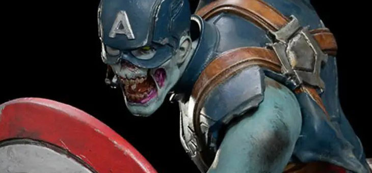 COMING DECEMBER 2022 – Zombie Captain America 1:10 Scale Statue by Iron Studios
