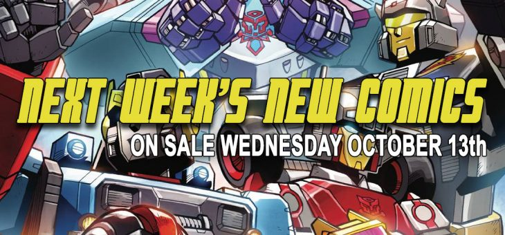 New Comic Books Due October 13th 2021