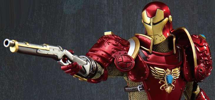 Marvel Dynamic 8ction Heroes Action Figure 1/9 Medieval Knight Iron Man Deluxe Version 20 cm